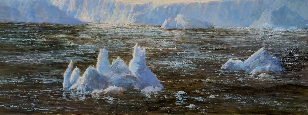 Antarctic Coastline Oil Painting