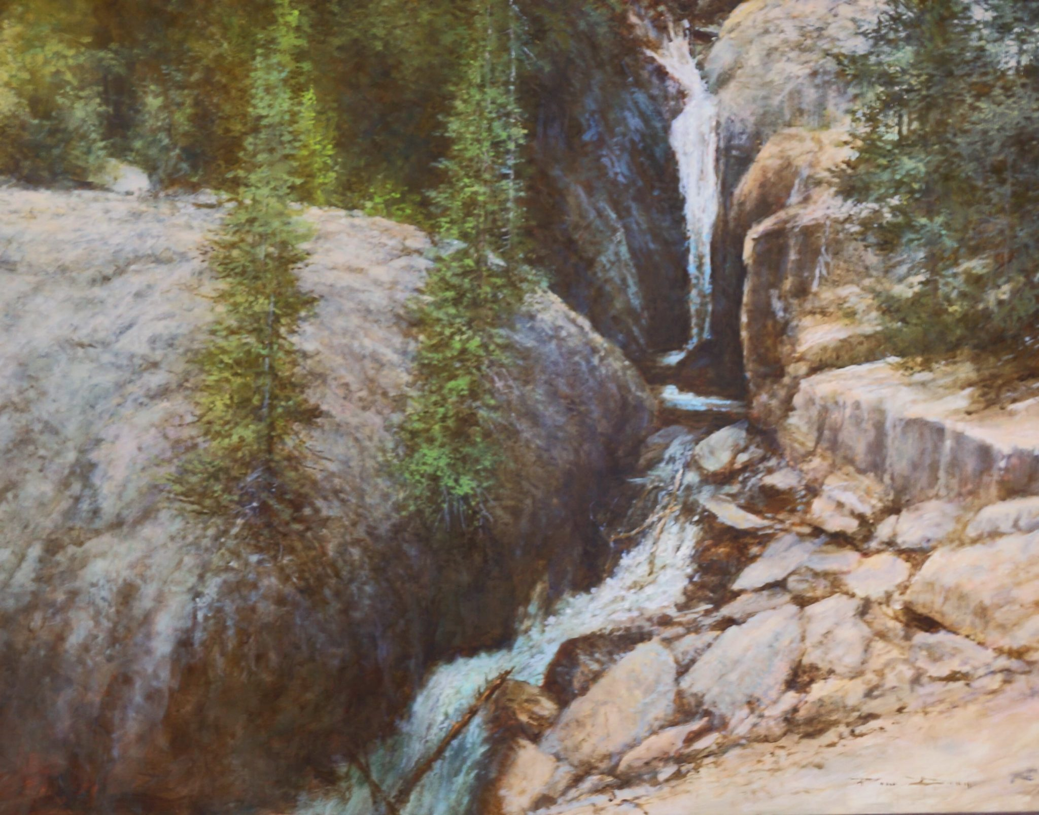 Chasm Falls Oild Painting