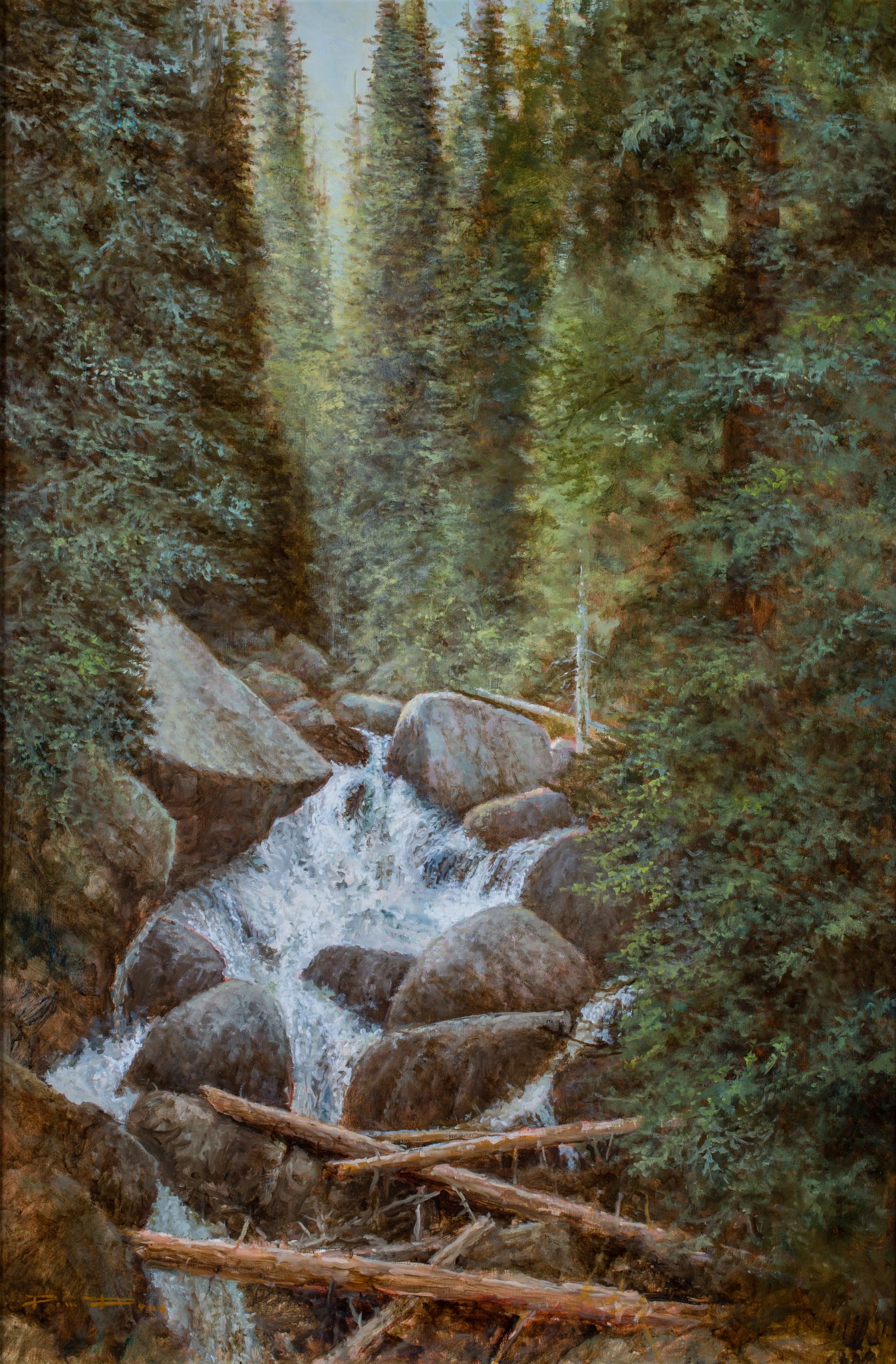 Cascade Falls OIl Painting