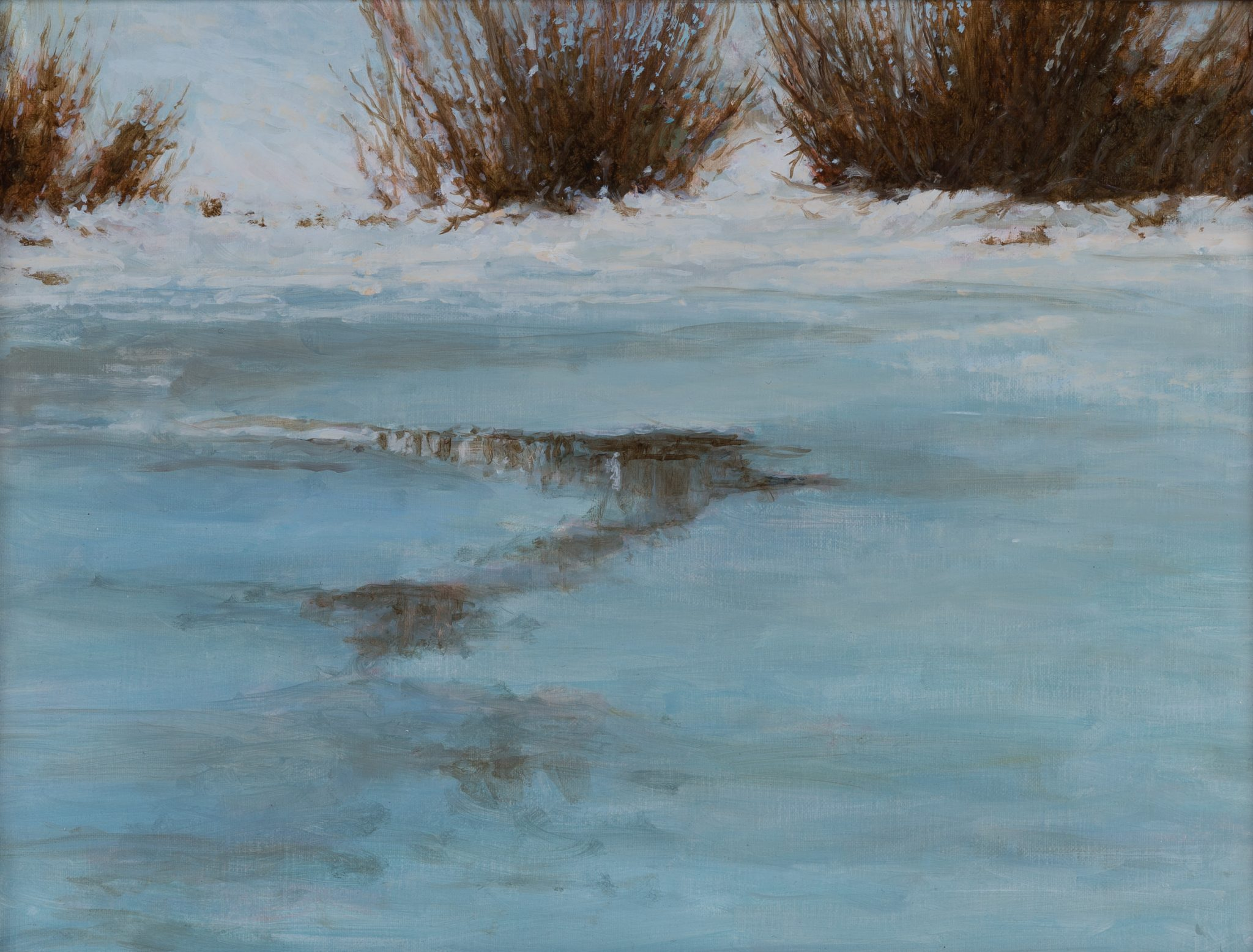 First Thaw Oil Painting