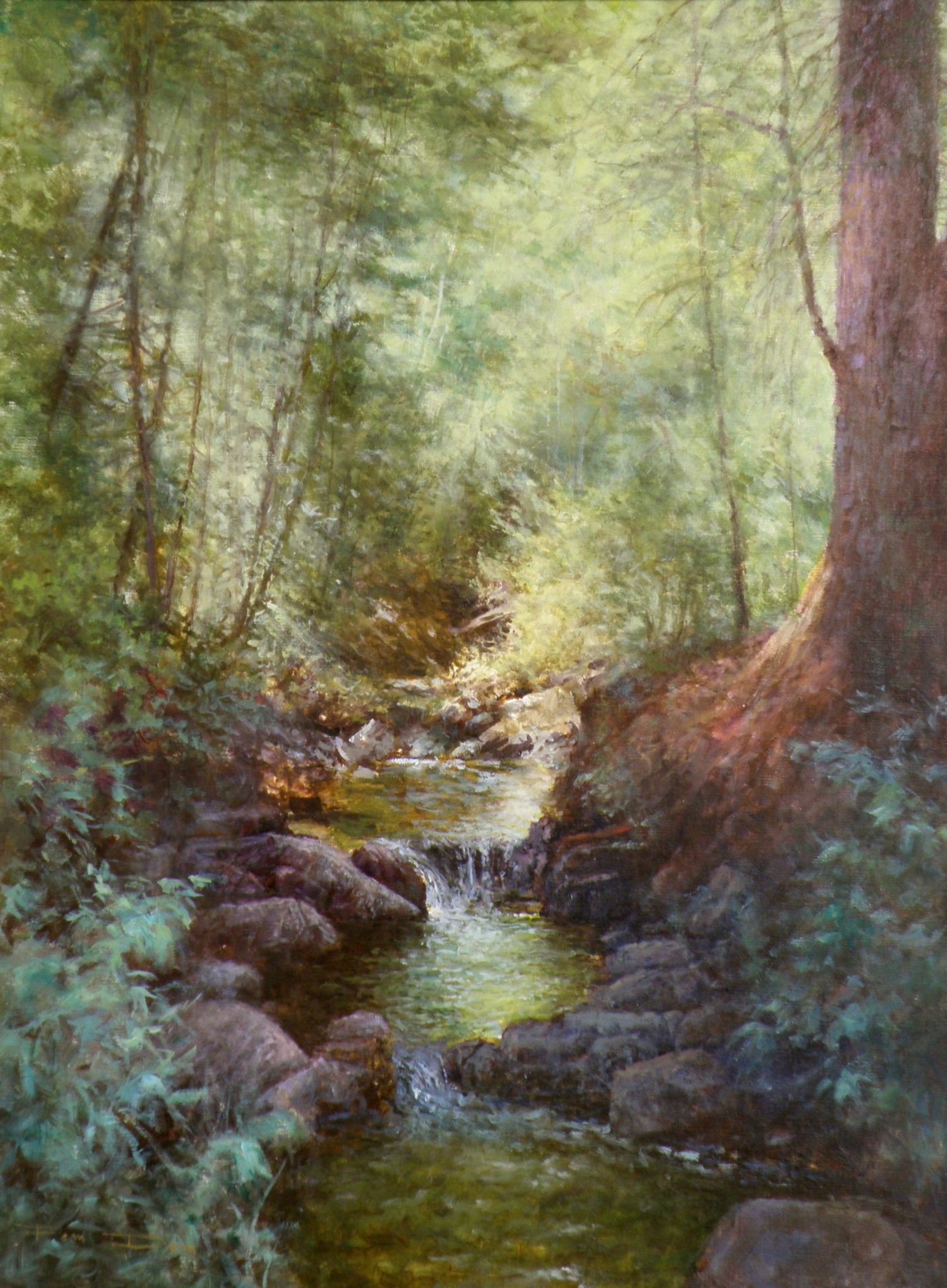 Emerald Pools Oil Painting